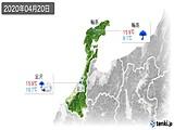 2020年04月20日の石川県の実況天気