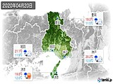 2020年04月20日の兵庫県の実況天気
