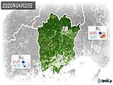2020年04月20日の岡山県の実況天気