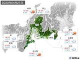 2020年04月21日の東海地方の実況天気