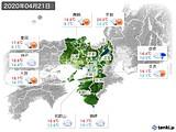 2020年04月21日の近畿地方の実況天気
