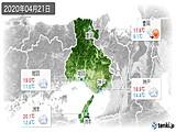 2020年04月21日の兵庫県の実況天気