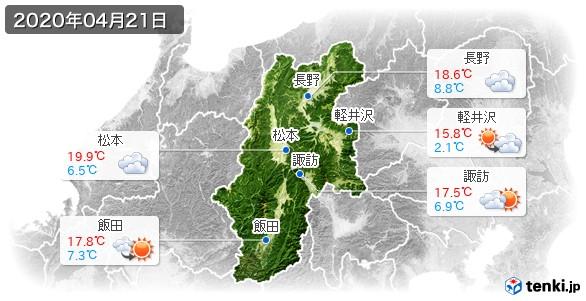 長野県(2020年04月21日の天気