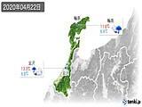 2020年04月22日の石川県の実況天気