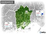 2020年04月22日の岡山県の実況天気