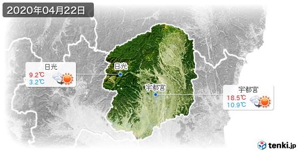 栃木県(2020年04月22日の天気