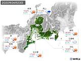 2020年04月23日の東海地方の実況天気