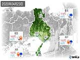 2020年04月23日の兵庫県の実況天気