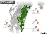 2020年04月23日の宮崎県の実況天気