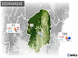 2020年04月24日の栃木県の実況天気