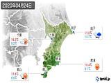 2020年04月24日の千葉県の実況天気