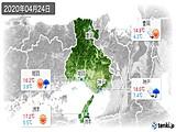 2020年04月24日の兵庫県の実況天気