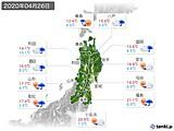 2020年04月26日の東北地方の実況天気