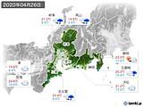 2020年04月26日の東海地方の実況天気