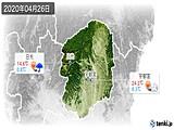 2020年04月26日の栃木県の実況天気