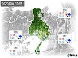 2020年04月26日の兵庫県の実況天気