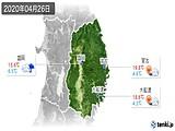 2020年04月26日の岩手県の実況天気