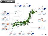 2020年04月26日の実況天気
