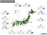 実況天気(2020年04月26日)