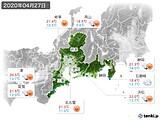 2020年04月27日の東海地方の実況天気
