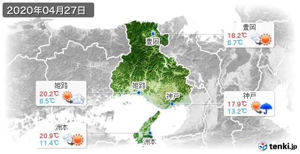 兵庫県(2020年04月27日の天気