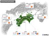 2020年04月28日の四国地方の実況天気