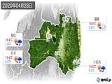 2020年04月28日の福島県の実況天気