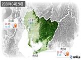 2020年04月28日の愛知県の実況天気