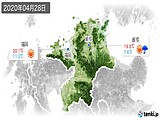 2020年04月28日の福岡県の実況天気