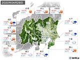 実況天気(2020年04月28日)