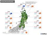 2020年04月29日の東北地方の実況天気
