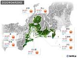 2020年04月29日の東海地方の実況天気