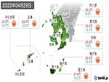 2020年04月29日の鹿児島県の実況天気