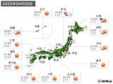 2020年04月29日の実況天気