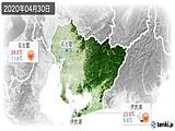 2020年04月30日の愛知県の実況天気
