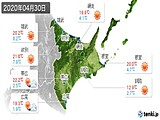 2020年04月30日の道東の実況天気
