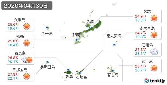沖縄県(2020年04月30日の天気