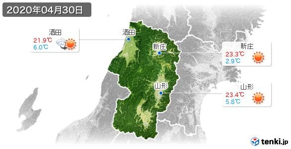山形県(2020年04月30日の天気