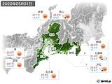 2020年05月01日の東海地方の実況天気