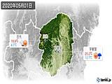 2020年05月01日の栃木県の実況天気