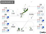 実況天気(2020年05月01日)