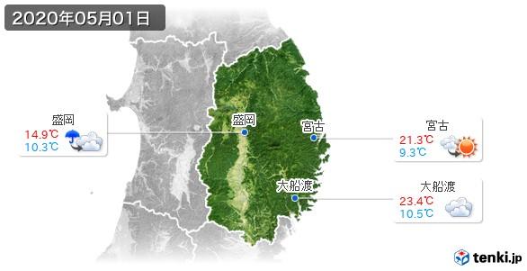 岩手県(2020年05月01日の天気