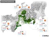 2020年05月02日の東海地方の実況天気