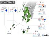 2020年05月02日の鹿児島県の実況天気