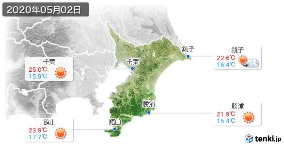 千葉県(2020年05月02日の天気
