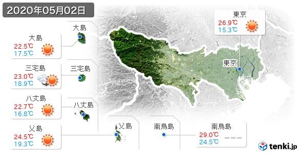 東京都(2020年05月02日の天気