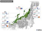 2020年05月04日の北陸地方の実況天気