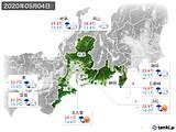 2020年05月04日の東海地方の実況天気