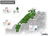 2020年05月04日の島根県の実況天気
