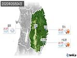 2020年05月04日の岩手県の実況天気